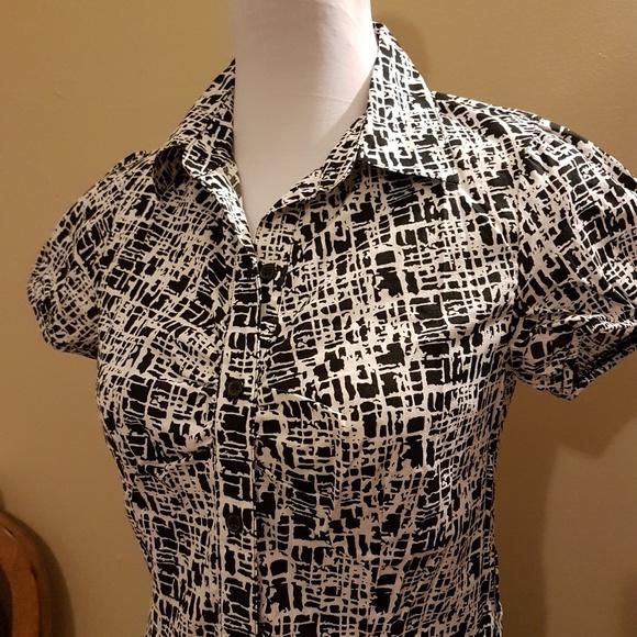 AB Studio Dresses & Skirts - AB Studio Black White Abstract Dress